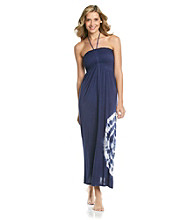 Raviya Smocked Top Long Length Tie-Dye Maxi Dress with Rhinestone Detail