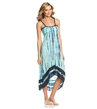 Raviya Tie Dye High/Low Hemline Maxi Dress with Seaming Detail
