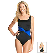 Studio Works® Colorblock Sash Tank Swimsuit