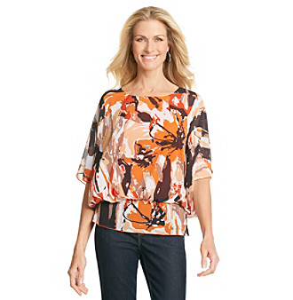 Studio Works® Printed Peplum Top