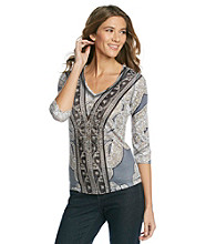 Oneworld Embellished Paisley Print Top
