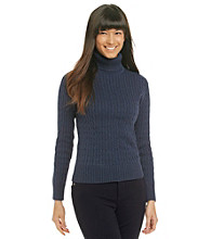 Jeanne Pierre Cable Turtleneck