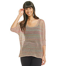 August Silk Mini Mesh Pullover Hi-Lo Knit