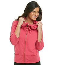 Fever™ Scrunch Collar Zip Jacket