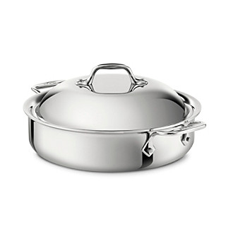 All-Clad® Stainless Steel 4-qt. Sauteuse with Lid