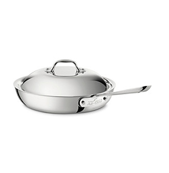 """All-Clad® Stainless Steel 11"""" French Skillet with Lid"""