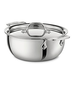 All-Clad® 3-qt. Stainless Steel Cassoulet Pan with Lid