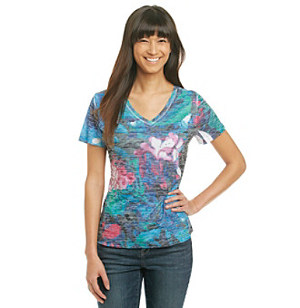 Laura Ashley® V-Neck Garden Sublimation Tee
