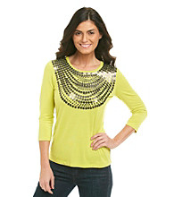 Laura Ashley® Sequin Necklace Tee