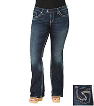 Silver Jeans Co. Plus Size Tuesday Straight Fit Low-Rise Bootcut Jeans