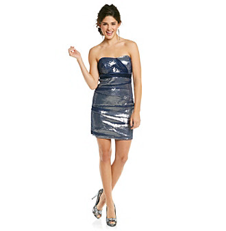 Bee Darlin' Juniors' Navy Sequin Tube Dress
