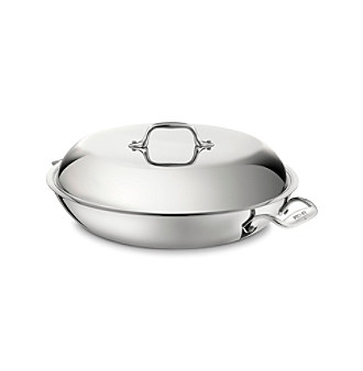 All-Clad Stainless Steel 4-qt. Braiser with Lid