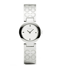 COACH STAINLESS STEEL MERCER BANGLE WATCH