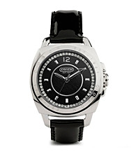 COACH BLACK BOYFRIEND STRAP WATCH