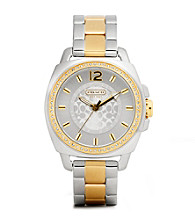COACH TWO TONE BOYFRIEND BRACELET WATCH