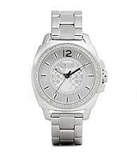 COACH STAINLESS STEEL BOYFRIEND BRACELET WATCH