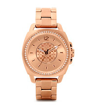 COACH ROSE GOLD BOYFRIEND BRACELET WATCH