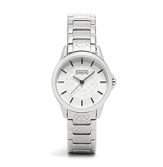 COACH WOMEN'S 32mm STAINLESS STEEL CLASSIC SIGNATURE SMALL BRACELET WATCH