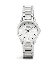 COACH STAINLESS STEEL CLASSIC SIGNATURE SMALL BRACELET WATCH