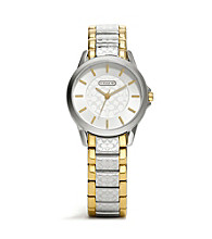 COACH TWO TONE CLASSIC SIGNATURE BRACELET WATCH