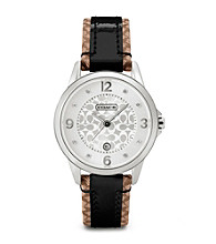 COACH SIGNATURE FABRIC CLASSIC SIGNATURE STRAP WATCH