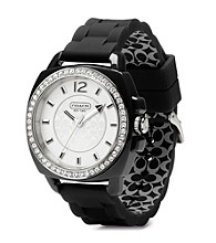 COACH BLACK BOYFRIEND SILICON RUBBER STRAP WATCH