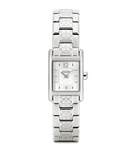 COACH STAINLESS STEEL CARLISLE SMALL BRACELET WATCH