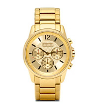 COACH GOLD PLATED CLASSIC SIGNATURE SPORT BRACELET WATCH