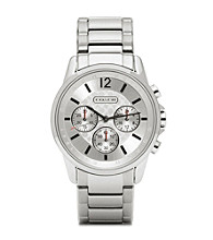 COACH STAINLESS STEEL CLASSIC SIGNATURE SPORT BRACELET WATCH