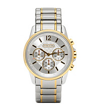 COACH TWO TONE CLASSIC SIGNATURE SPORT BRACELET WATCH