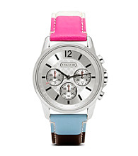 COACH LEGACY STRIPE CLASSIC SIGNATURE SPORT STRAP WATCH
