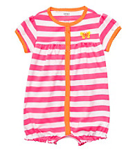 Carter's® Baby Girls' Pink Striped Butterfly Creeper