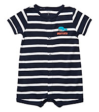 Carter's® Baby Boy's Navy Striped Whale Creeper