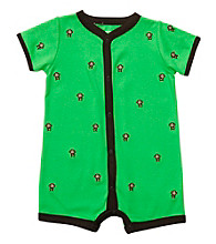 Carter's® Baby Boy's Green Schiffli Monkey Creeper