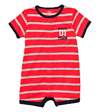 Carter's® Baby Boys' Red Striped Baseball Creeper