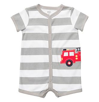 Carter's® Baby Boy's Grey Striped Rescue Creeper
