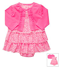 Carter's® Baby Girls' Pink/White Animal Dress Set