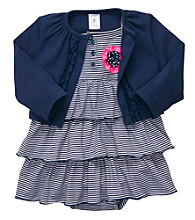 Carter's® Baby Girls' Navy Striped Dress Set