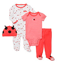 Carter's® Baby Girls' Red/White 4-pc. Ladybug Set