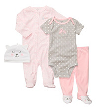 Carter's® Baby Girls' Pink/Grey 4-pc. Kitty Set