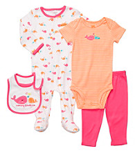 Carter's® Baby Girls' Pink/Orange 4-pc. Whales Set