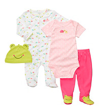 Carter's® Baby Girls' 4 piece Pink/Green 4-pc. Frog Set