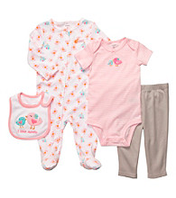 Carter's® Baby Girls' Pink/Grey 4-pc. Birds Set