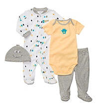 Carter's® Baby Boys' Yellow/Grey 4-pc. Monster Set