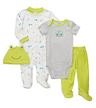 Carter's® Baby Boys' Green/White 4-pc. Frog Set