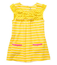 Carter's® Baby Girls' Yellow Striped Babydoll Top
