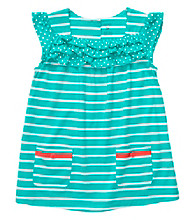 Carter's® Baby Girls' Teal Striped Babydoll Top