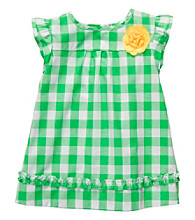 Carter's® Baby Girls' Green Gingham Woven Babydoll Top