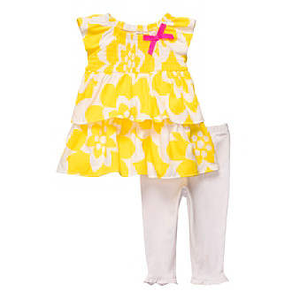 Carter's® Baby Girls' Yellow 2-pc. Ruffle Top Set