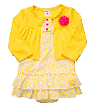 Carter's® Baby Girls' Yellow 2-pc. Sunsuit and Cardigan Set